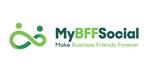 MyBFF SOCIAL branding and logo design by sandy hibbard creative