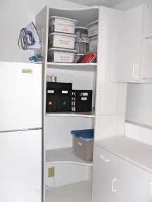 More Laundry Room shelves