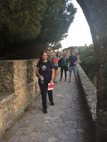 Some of our great team on a castle wall