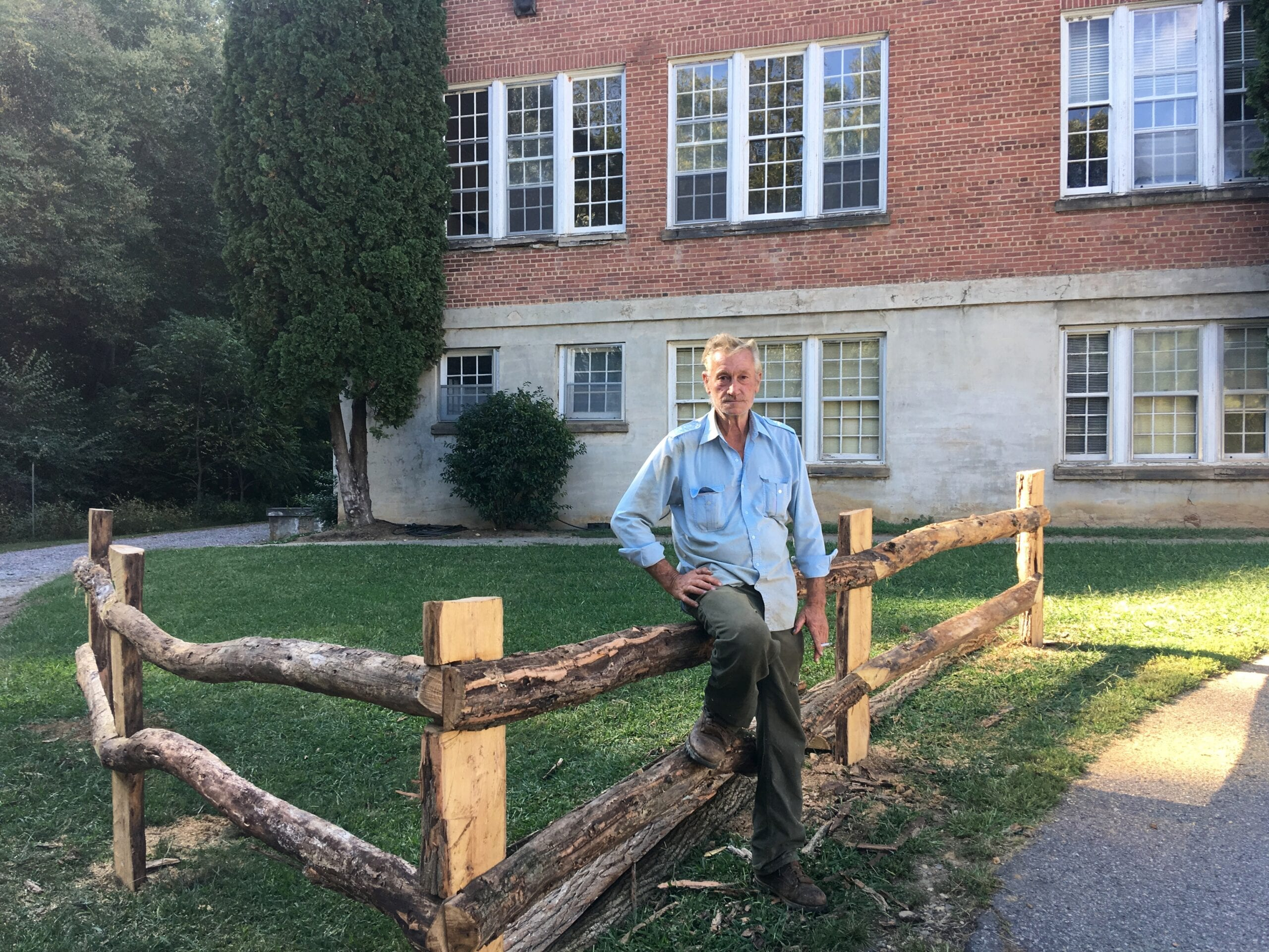 locust fence posts