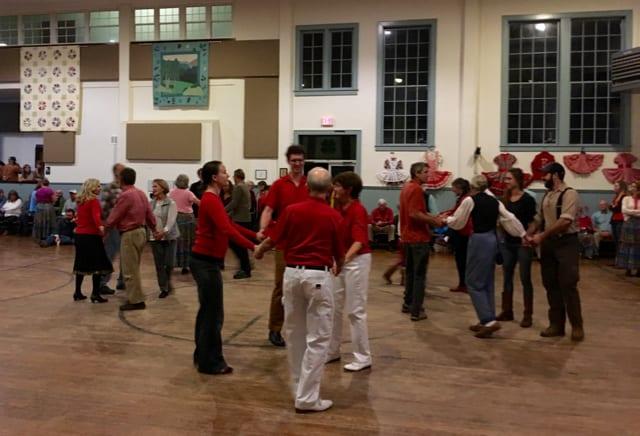 square dancers at Sandy Mush Community Center