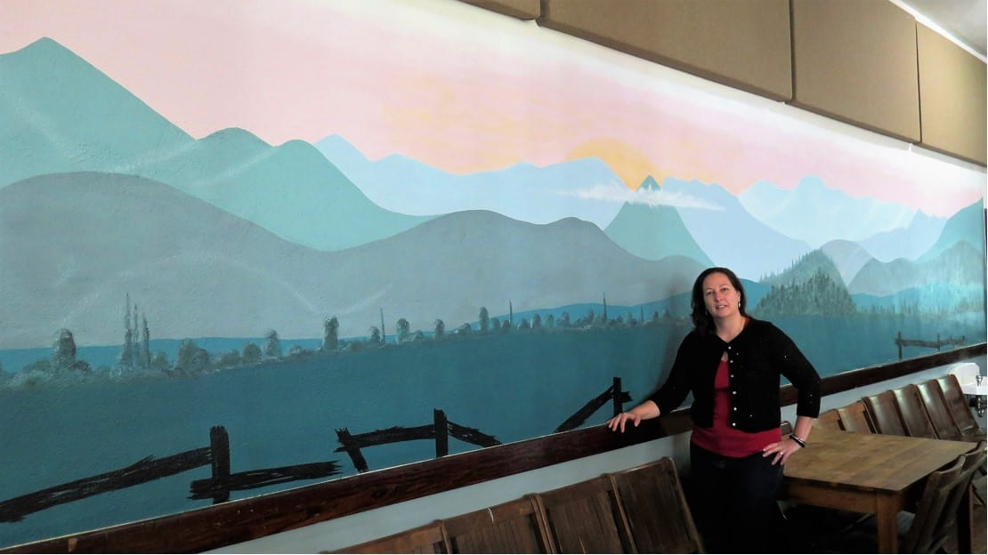 New Mural in Gym: thank you, Valerie Holstein