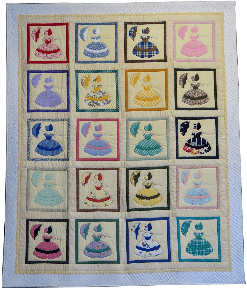 colonial ladies quilt blocks large quilt
