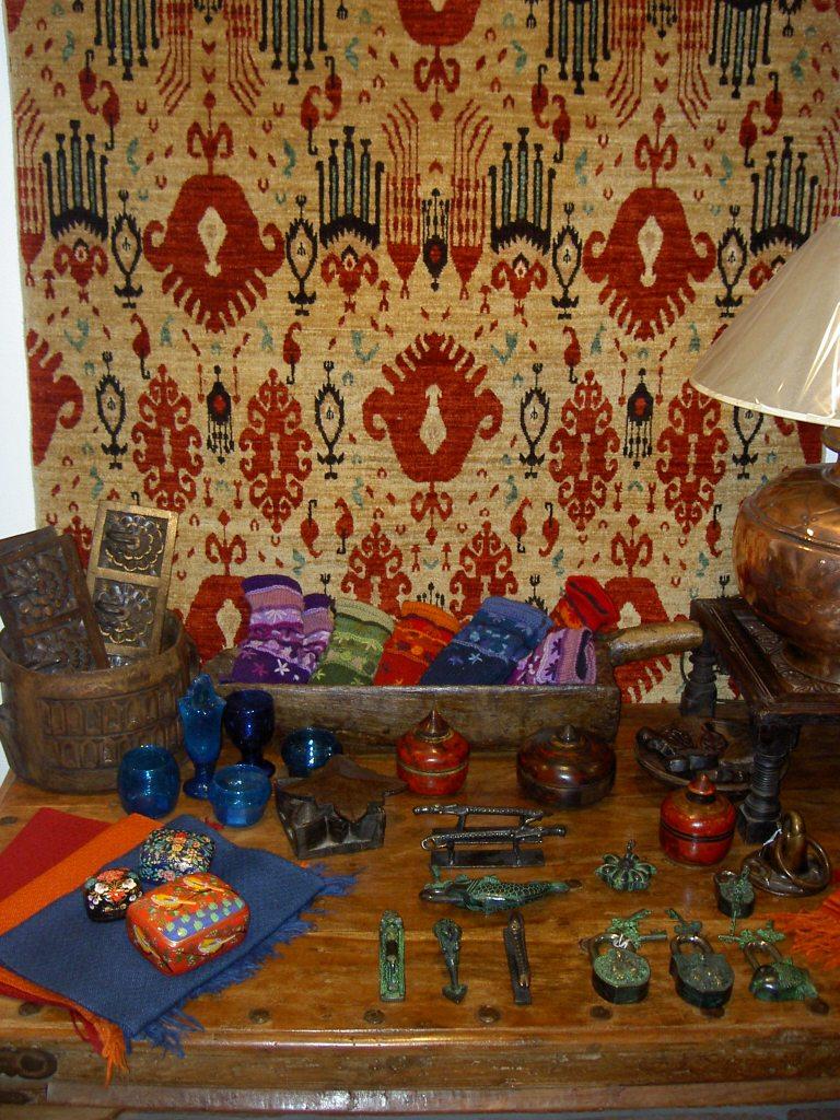 "Afghan ""ikat"" design carpet"
