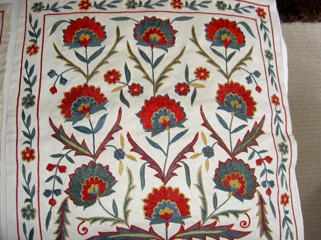 Susani cushion from Uzbekistan