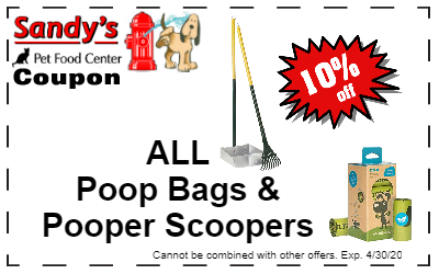 10 percent off all poop bags and pooper scoopers