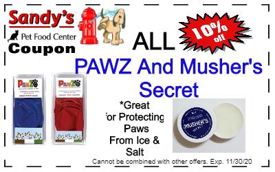 Pawz and Mushers coupon