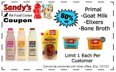 Primal supplements coupon