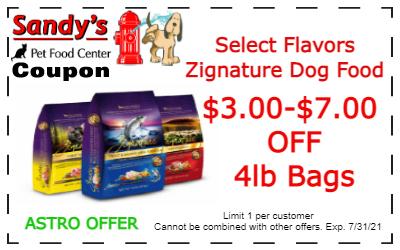 Zignature coupon