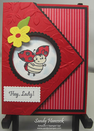 Little Lady Bug Tri-fold Card with two Videos