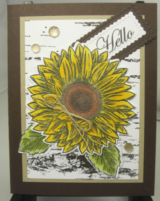 Celebrate Sunflowers card with a Video