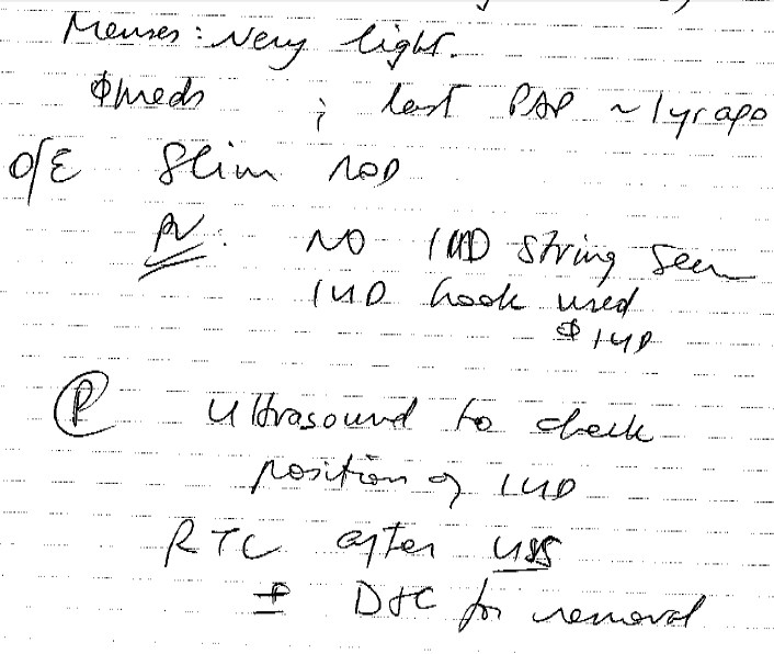 Deciphering a Doctor's Handwriting