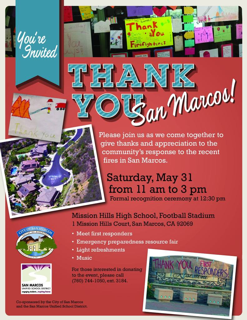 City of San Marcos Thank You Event for Cocos Fire