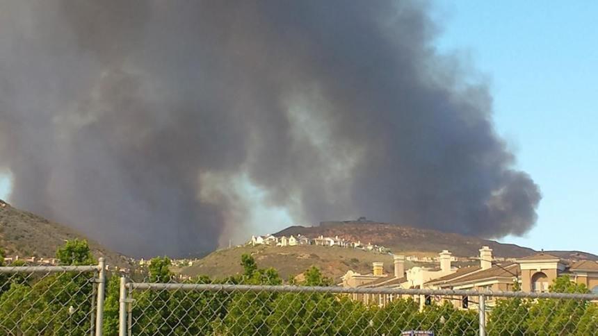 San Elijo Hills Fire- Double Peak Park