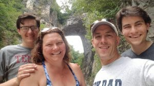 family, natural bridge, hiking, summer, busy lifestyle.