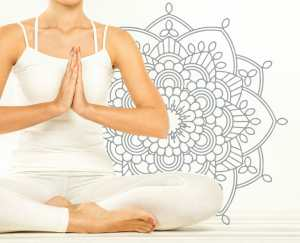 Self care/woman doing yoga/sanespaces.com