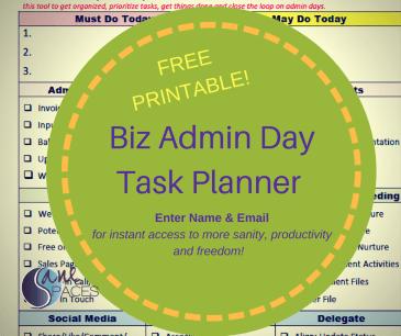 business admin checklist