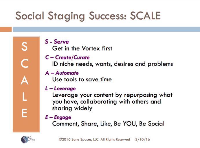 SCALE To Get The Most out of your Social Media/sanespaces.com