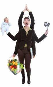 woman multitasking/workaholic/sanespaces.com