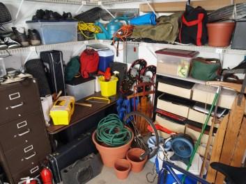 Awareness, garage clutter, disorganized