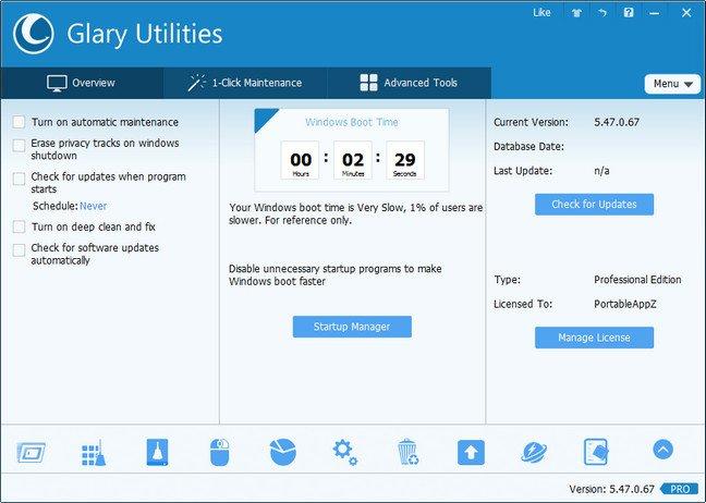 Glary Utilities Pro 5.47.0.67 Multilingual + Portable
