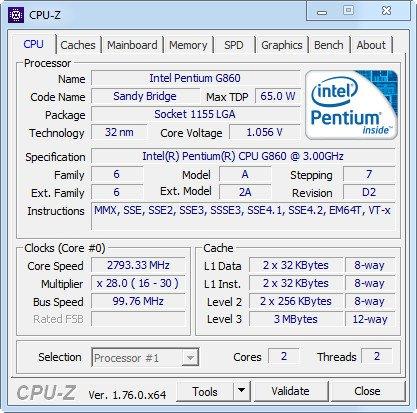 CPU-Z 1.76 + Portable