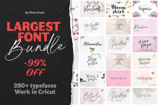 Download Download Largest Font Bundle - 290+ Typefaces Work in ...