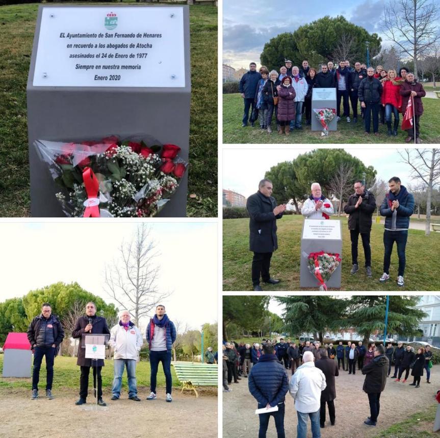 Recuerdo a los Abogados de Atocha en el 43º aniversario de la matanza