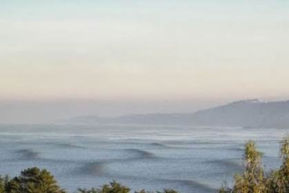 Photo taken from our Deck: 20' Hexagon Giant Waves rolling in off the Pacific.