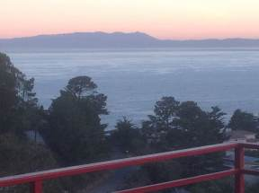 Photo from our deck: Red Sunrise Mount Tamalpais (2,600' Elev) Marin County.