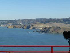 Our Nice big View Deck. Golden Gate Bridge and our railings are same paint.