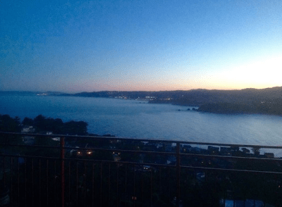 Pic taken from our Penthouse: Early Dawn waiting on the San Francisco Coast.
