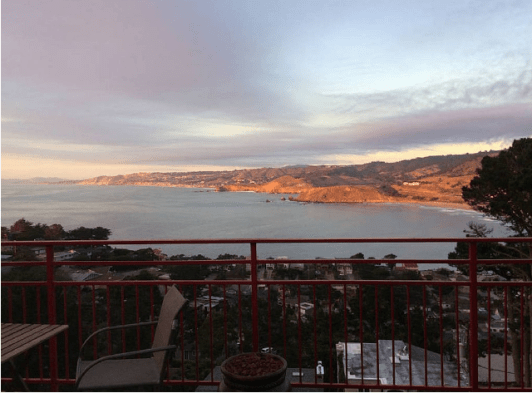 Pic taken from our deck: Golden Coast at the Golden Gate of San Francisco.
