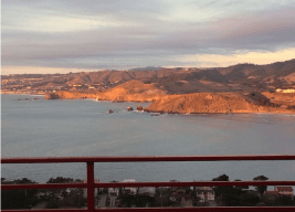 Picture from our deck: Penthouse Golden Sunset over Cabo San Pedro Bay.