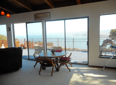Penthouse Octogon Dining Table Vast Views of the Pacific Ocean & San Francisco