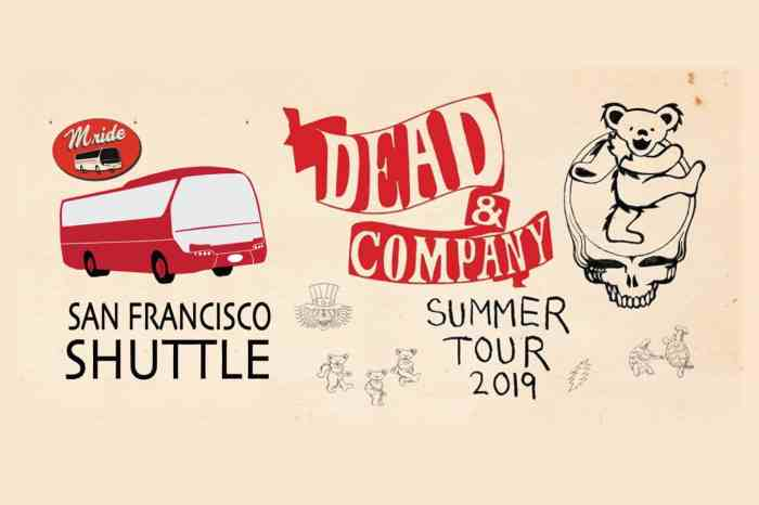Dead & Company Shuttle Bus to Shoreline Amphitheater