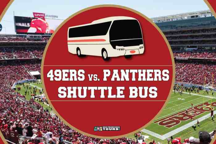 Levi's Stadium Shuttle Bus: Niners vs. Panthers