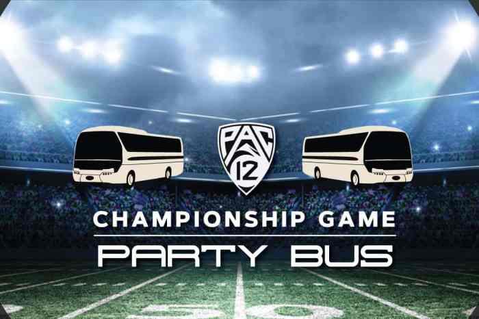 Pac 12 Championship Party Bus to Levi's Stadium