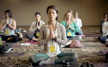 meditierende Gruppe