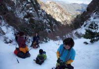 2010年 1月24日 御在所岳 3ルンゼ