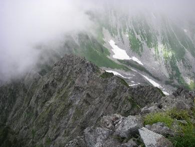 2010年8月19日 槍ヶ岳ー(大キレット)-涸沢岳