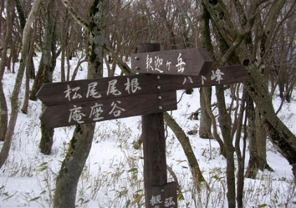 06松尾尾根への分岐。