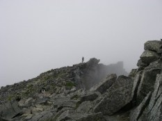 37.涸沢岳へ向う