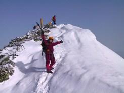 13 五竜岳山頂直下