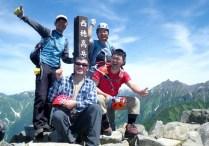 59.西穂高岳山頂。核心部の終了。