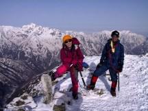 15 五竜岳山頂に着いた!
