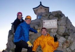 35.3日目。奥穂高岳山頂がスタート。