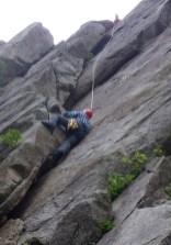 2ルートを登るTOM。