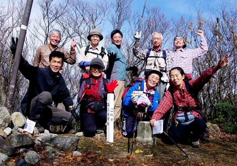 2009年11月15日 定例山行B  雲母峰(888m)(鈴鹿中部)