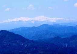 今日は、白山もよく見えました。